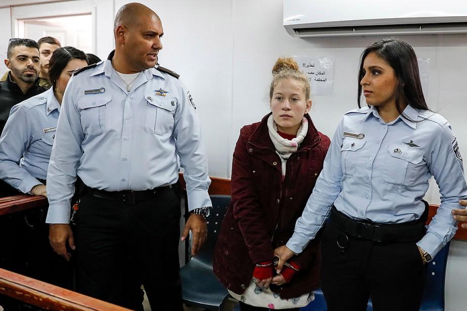 Les trois Palestiniennes ont été arrêtées la semaine... (AHMAD GHARABLI, AFP)