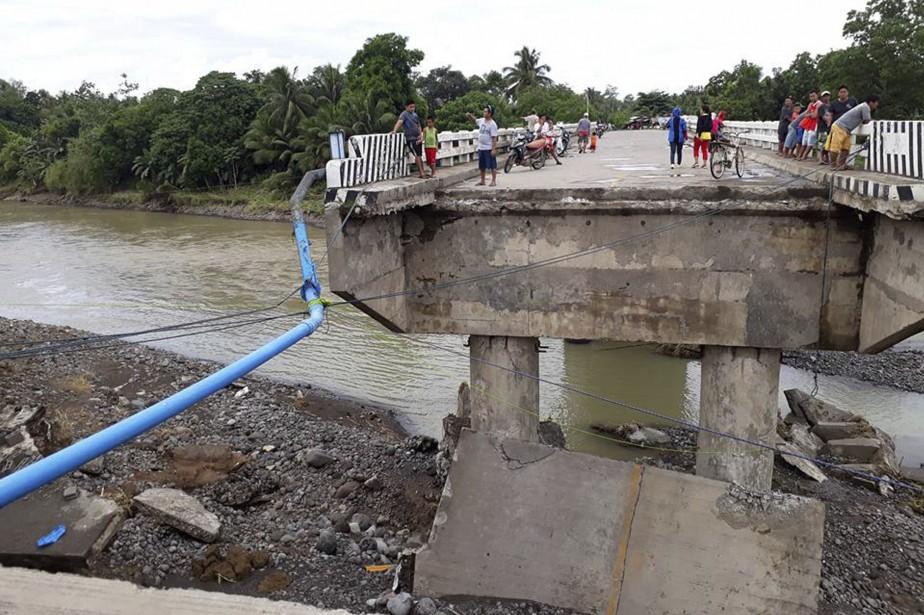 Le typhon Tembin a déjà fait d'immenses dégâts... (AP)