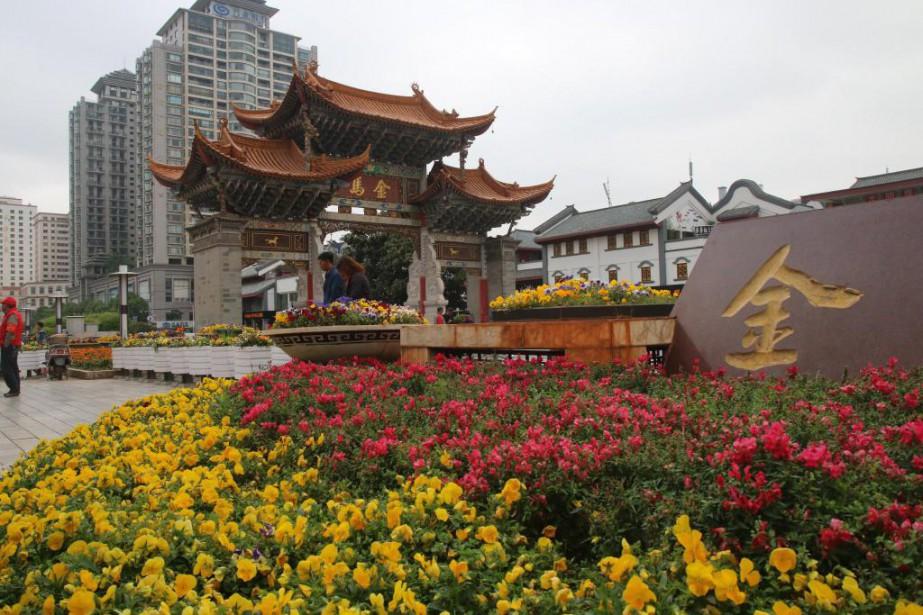 Kunming, la ville fleurie... (PHOTO SYLVAIN SARRAZIN, LA PRESSE)