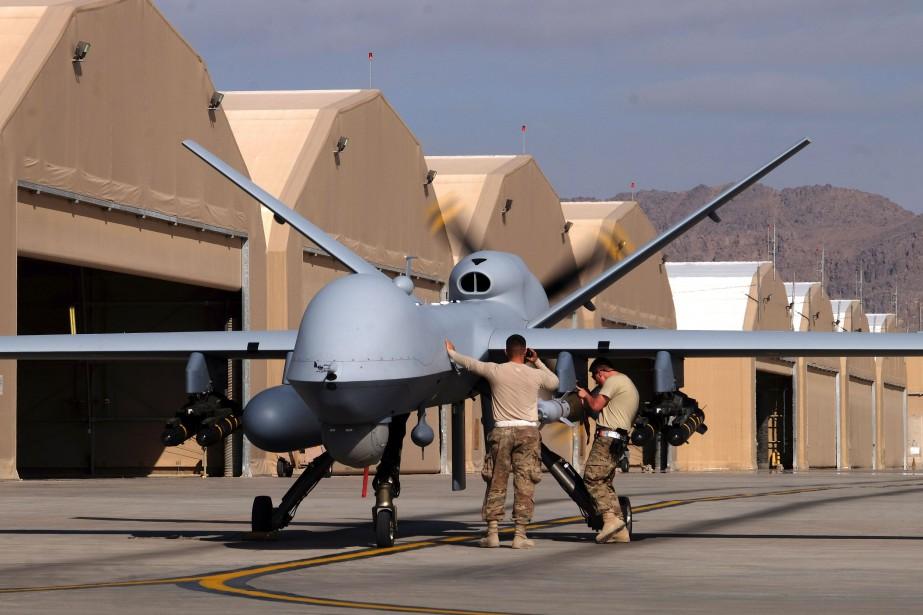 Les États-Unis ont mené 34 attaques ciblées avec... (PHOTO ARCHIVES REUTERS)