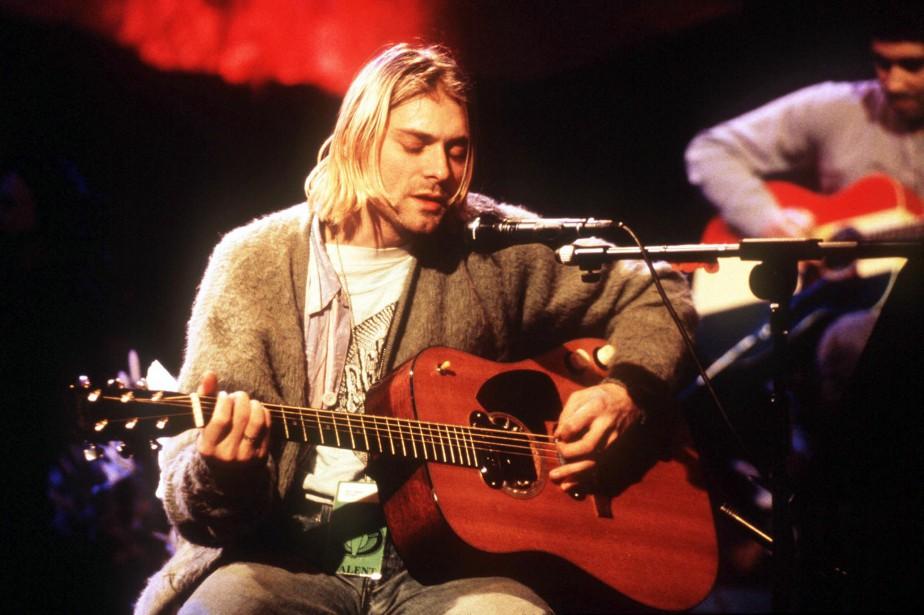 Kurt Cobain lors de la célèbre prestation de... (La Presse NYT)