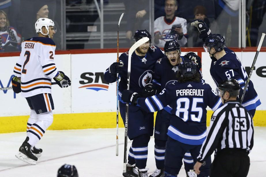 Joel Armia a inscrit deux buts et il a aidé les Jets de Winnipeg à... (PHOTO PC)