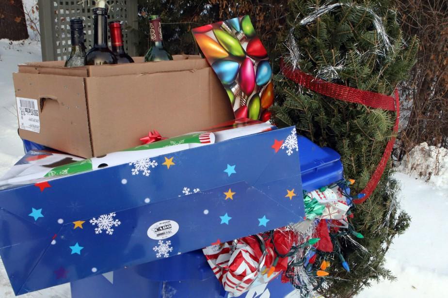Chaque année, 540 000 tonnes de papier d'emballage... (PHOTO PC)