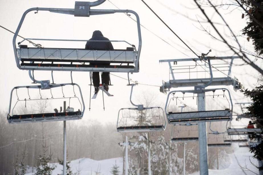 En raison du froid polaire,le nombre de skieurs... (Photo Jean-Marie Villeneuve, Le Soleil)