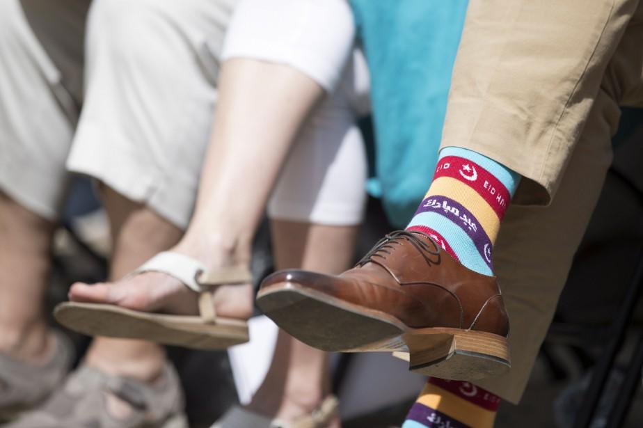 Les chaussettes de Justin Trudeau ont fait parler... (Photo archives La Presse canadienne)