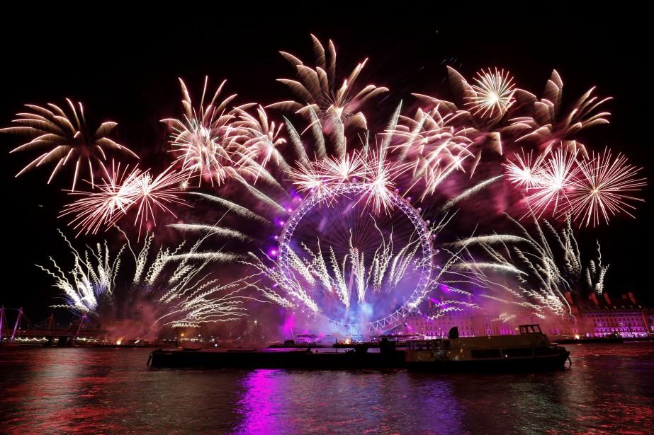 Feux d'artifices à Londres... (AFP)