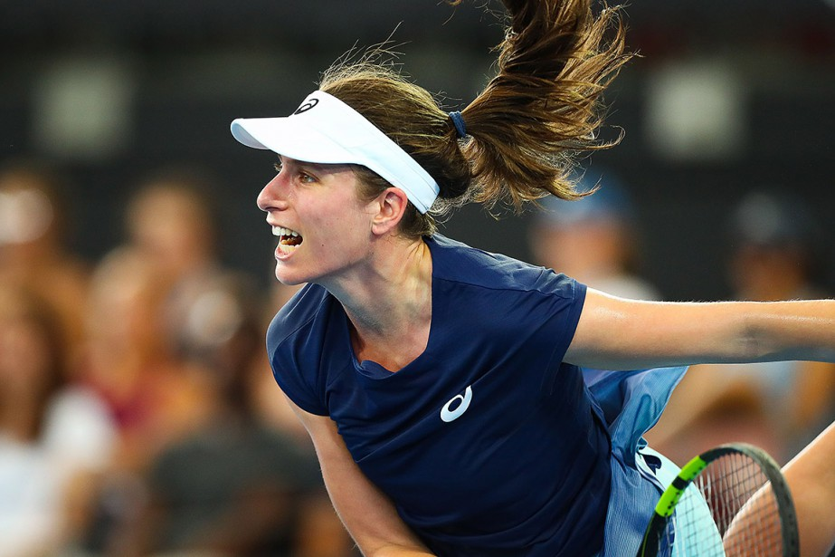 Johanna Konta durant le match contre Madison Keys.... (AFP)
