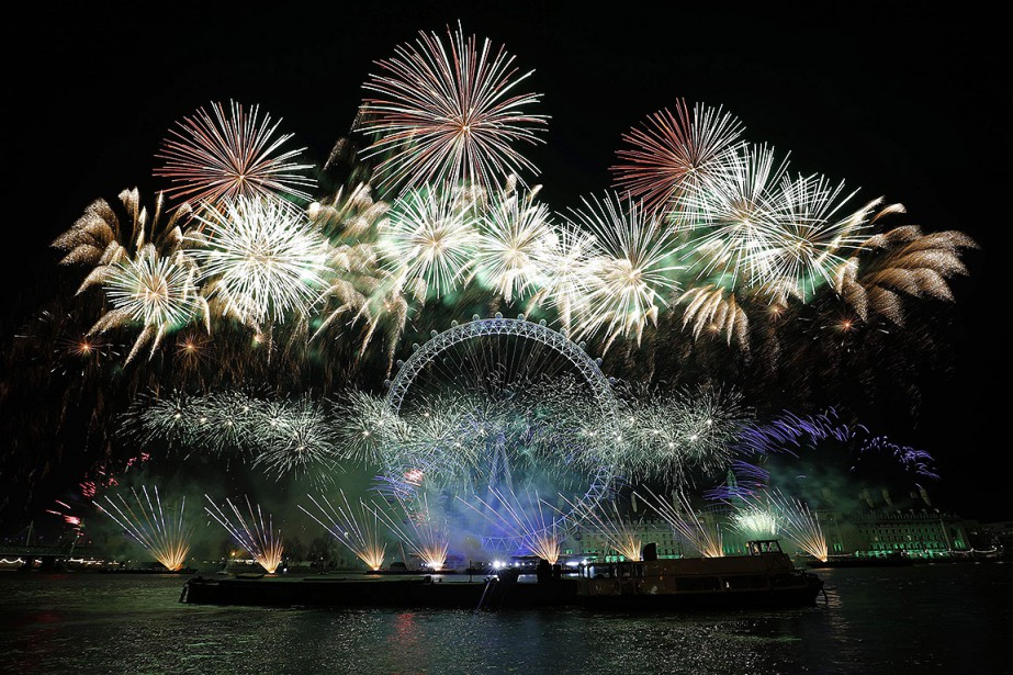 Les festivités du Nouvel An ont rassemblé, entre... (AFP)