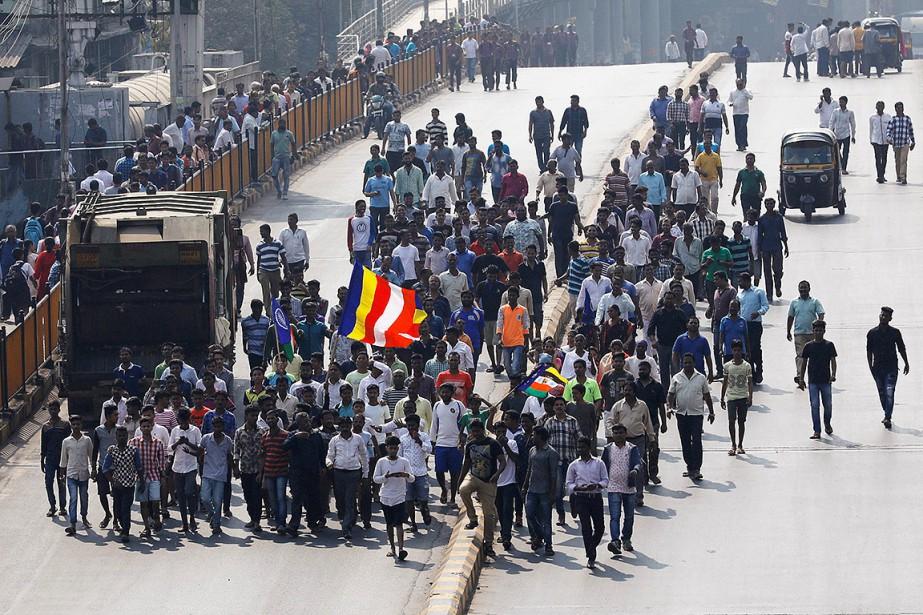 Les manifestations sont une réaction aux violences qui... (Danish Siddiqui, REUTERS)