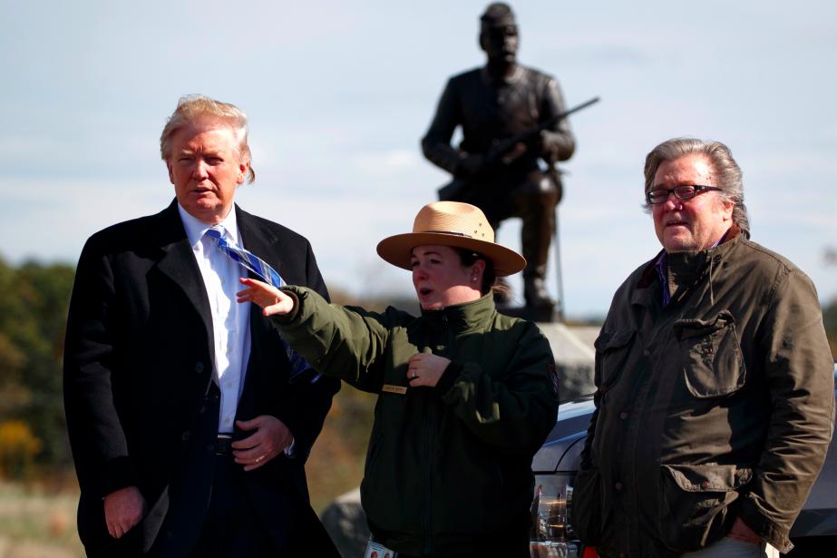 Donald Trump et son ancien directeur de campagne... (ARCHIVES AP)