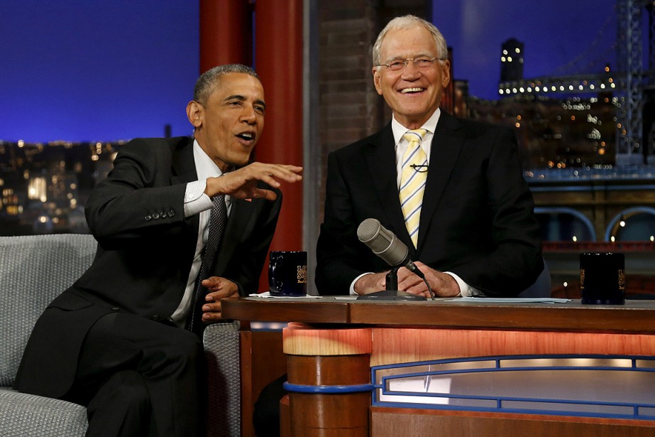 Barack Obama a rendu visite à David Letterman... (PHOTO JONATHAN ERNST, ARCHIVES REUTERS)