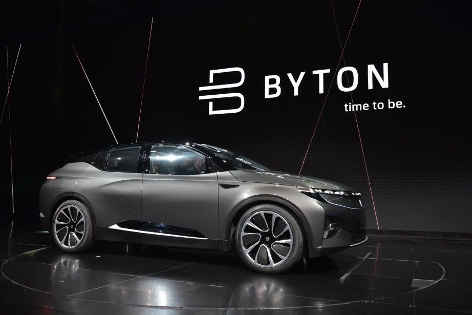 Byton, une start-up chinoise, encore une compagnie qui veut détrôner Tesla (photo : AFP)