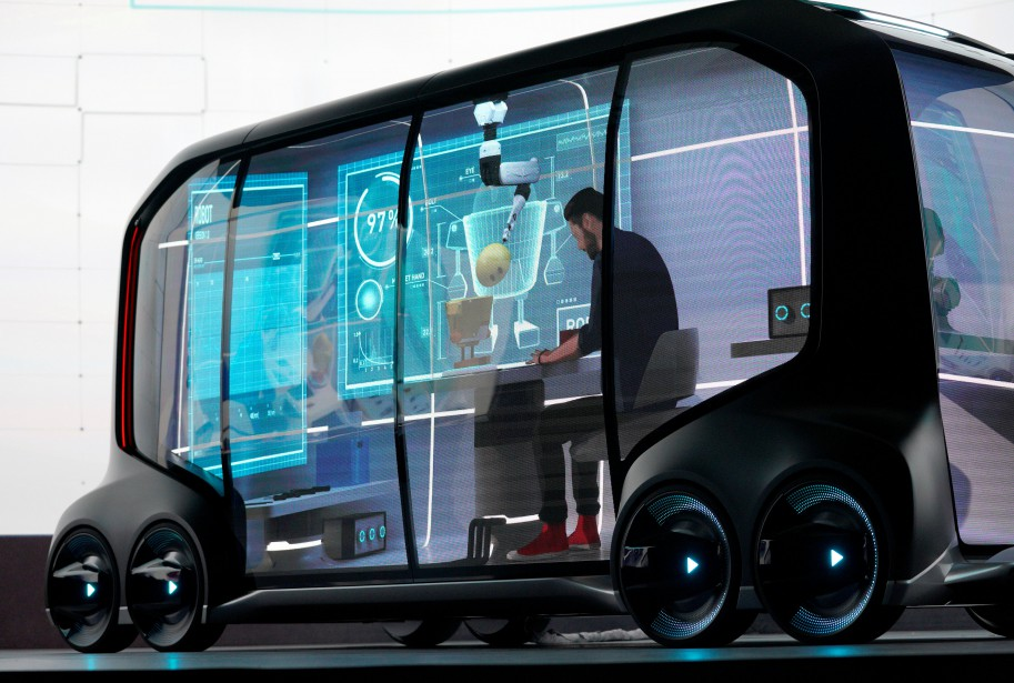 L'e-Palette est un prototype de véhicule de livraison et de... | 2018-01-08 00:00:00.000