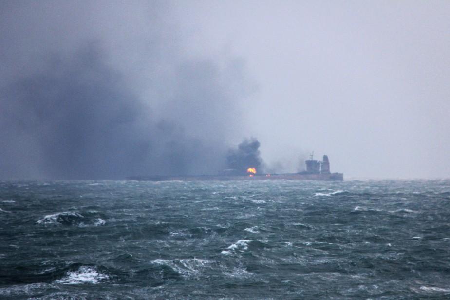 Le navire-citerne Sanchi, avec 136 000 tonnes d'hydrocarbures... (AFP)