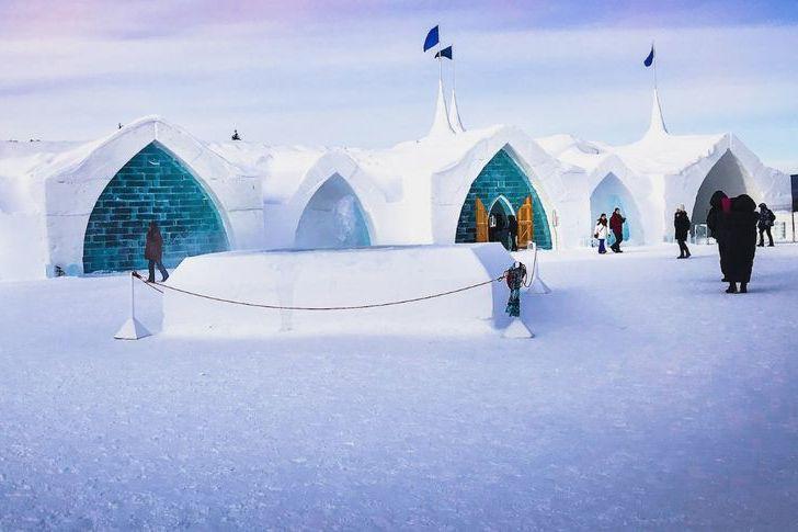 L'Hôtel de glace du Village Vacances Valcartier.... (Photo tirée de Facebook)