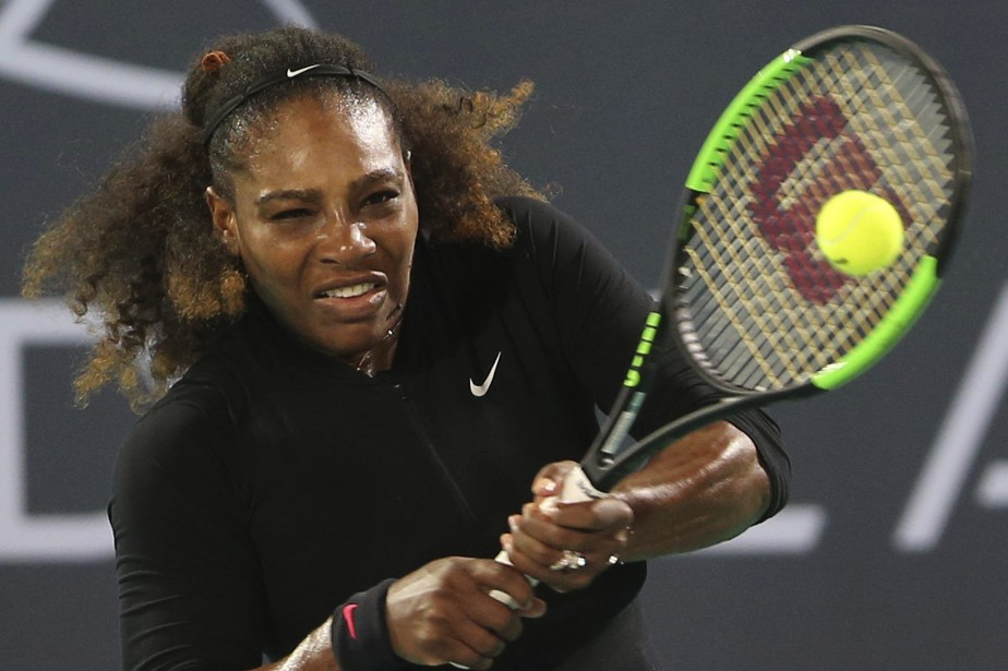 Serena Williamsa retrouvé les courts pour un match... (PHOTO AP)