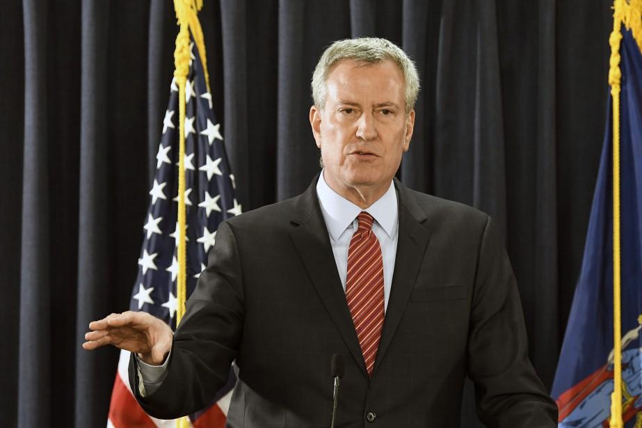 Le maire de New York, Bill de Blasio.... (Photo Hans Pennink, AP)