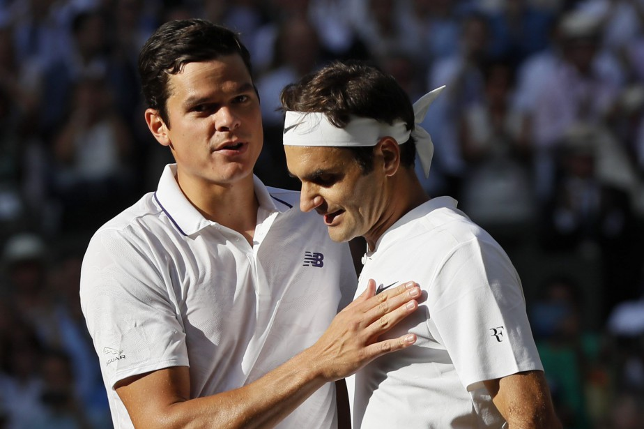 Milos Raonic et Roger Federer... (Photo Kirsty Wigglesworth, archives AP)