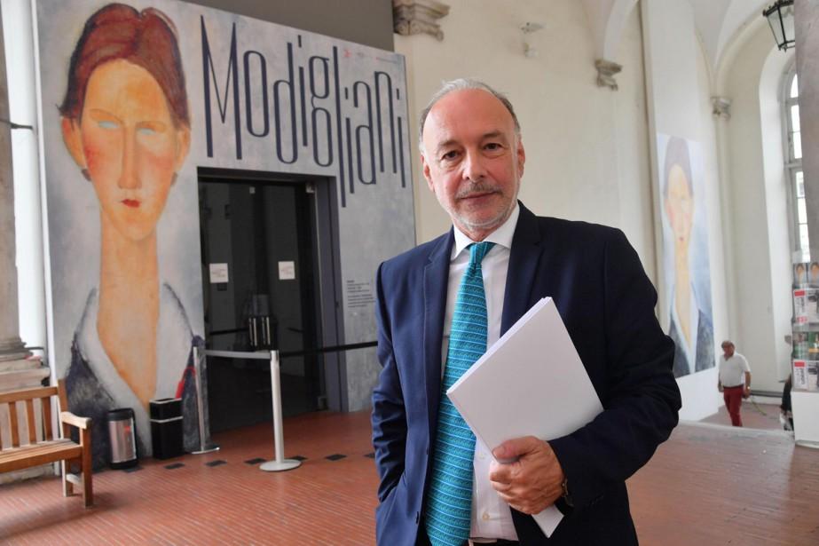 Le critique d'art Rudy Chiappini au Palazzo Ducale... (Photo AP)