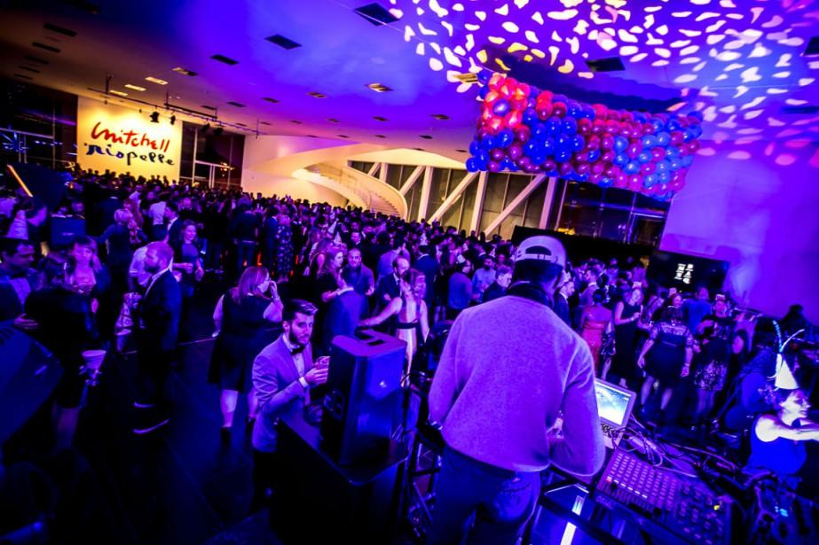 Le DJ Karim Ouellet et des invités du... (Photo fournie par le MNBAQ)