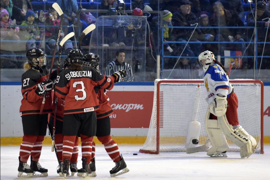 L'équipe canadienne féminine de hockey des moins de... (Photo tirée du site de Hockey Canada)