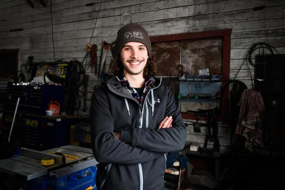 Samuel Girard, 21ans, est né à Ferland-et-Boilleau, un... (Photo Bernard Brault, La Presse)