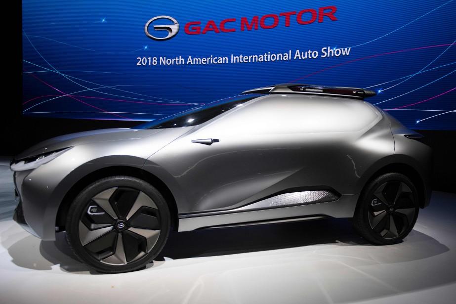 Le prototype Enverge, révélé par le constructeur chinois GAC au Salon de l'auto de Détroit.   | 15 janvier 2018