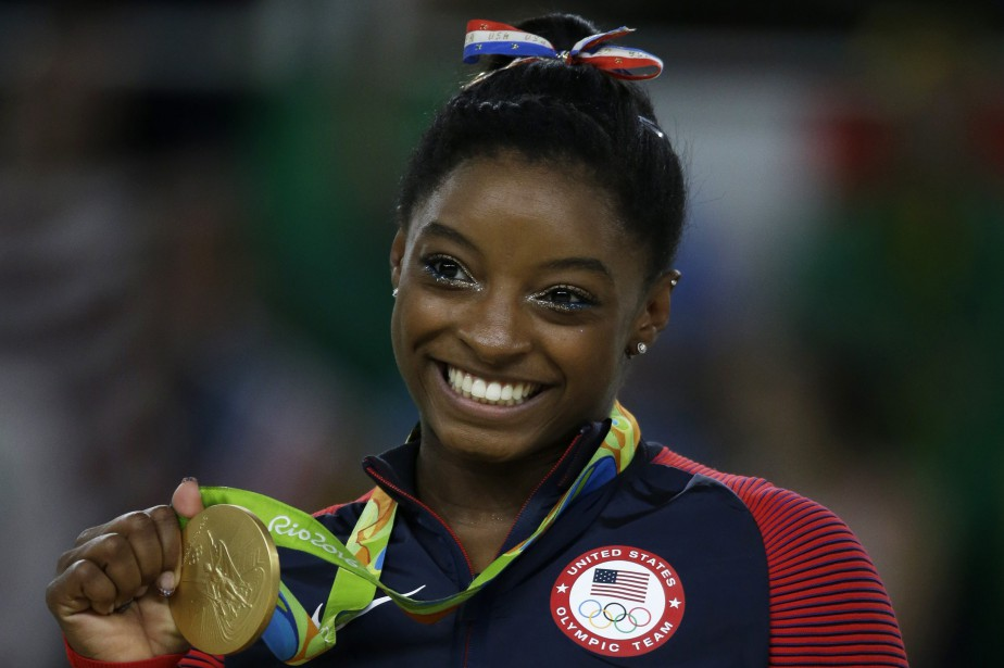 Simone Biles fut la gymnaste la plus couronnée... (PHOTO AP)