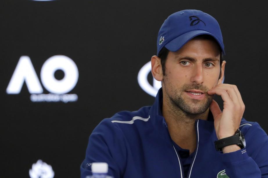 Novak Djokovica qualifié de «grandement erronée ou exagérée»... (Photo Vincent Thian, AP)