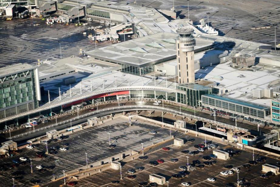 Vue de l'aéroport Montréal-Trudeau, en novembre 2017... (PHoto Bernard brault, archives La Presse)