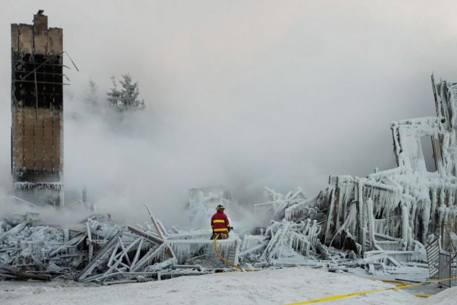 Le 23 janvier 2014, un incendie dans une... (PHOTO IVANOH DEMERS, ARCHIVES LA PRESSE)
