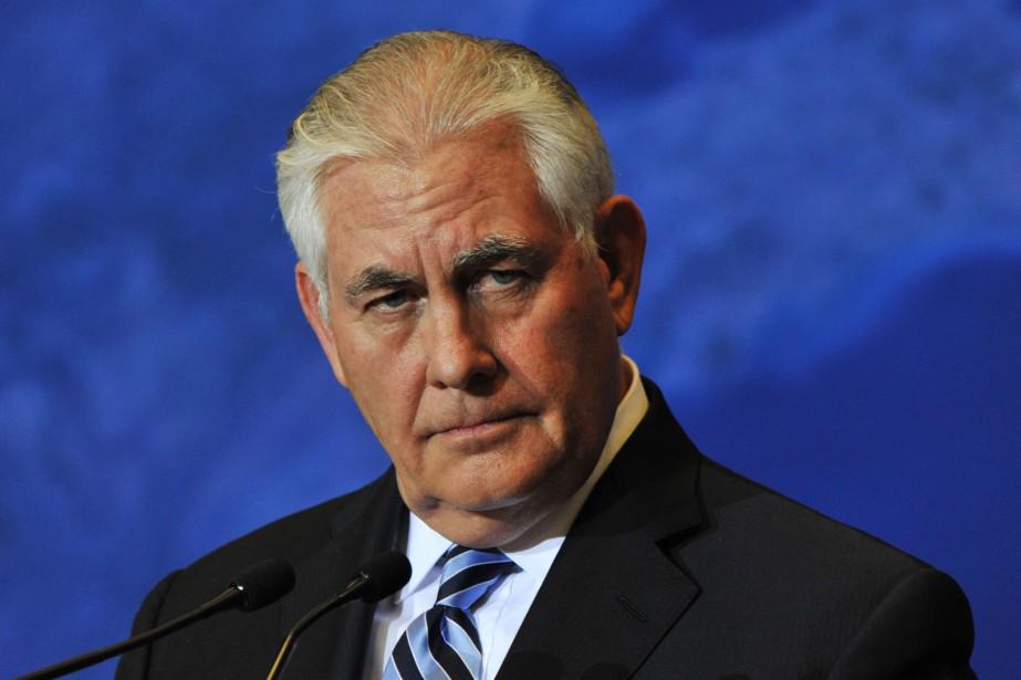 Le secrétaire d'État américain Rex Tillerson... (PHOTO  Don MacKinnon, AFP)
