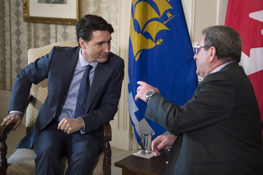 Le premier ministre du Canada Justin Trudeau a... (Photo Jacques Boissinot, PC)