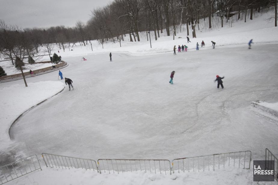 Sur cette photo, la patinoire réfrigérée, beaucoup plus... (PHOTO IVANOH DEMERS, archives LA PRESSE)