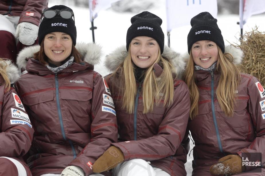 Les soeurs Maxime, Justine et Chloé Dufour-Lapointe... (Photo Bernard Brault, La Presse)