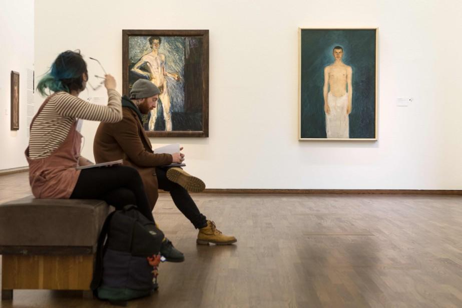 Des oeuvres de Richard Gerstl peuvent être admirées... (Photo AFP)