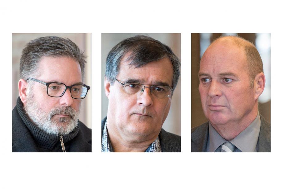 Jean Demaître, Richard Labrie et Thomas Harding... (PHOTO ARCHIVES LA PRESSE CANADIENNE)
