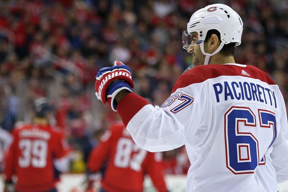 Max Pacioretty a ouvert la marque en avantage... (Photo USA TODAY Sports)