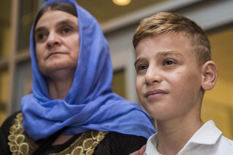 Emad avait été séparé de sa mère, en... (Photo La Presse canadienne)