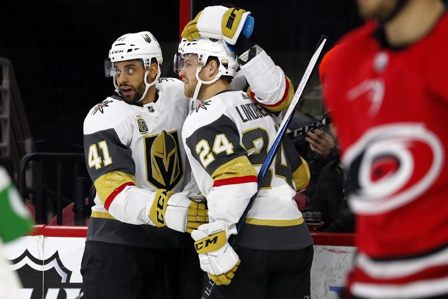 James Neal et Jonathan Marchessault ont touché la cible et les... (PHOTO AP)