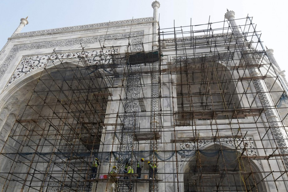 La rénovation du Taj Mahal, principale attraction touristique... (Photo AFP)