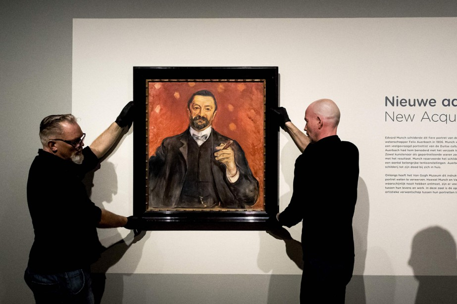 Le Portrait de Felix Auerbach, peint par Munch... (Photo AFP)