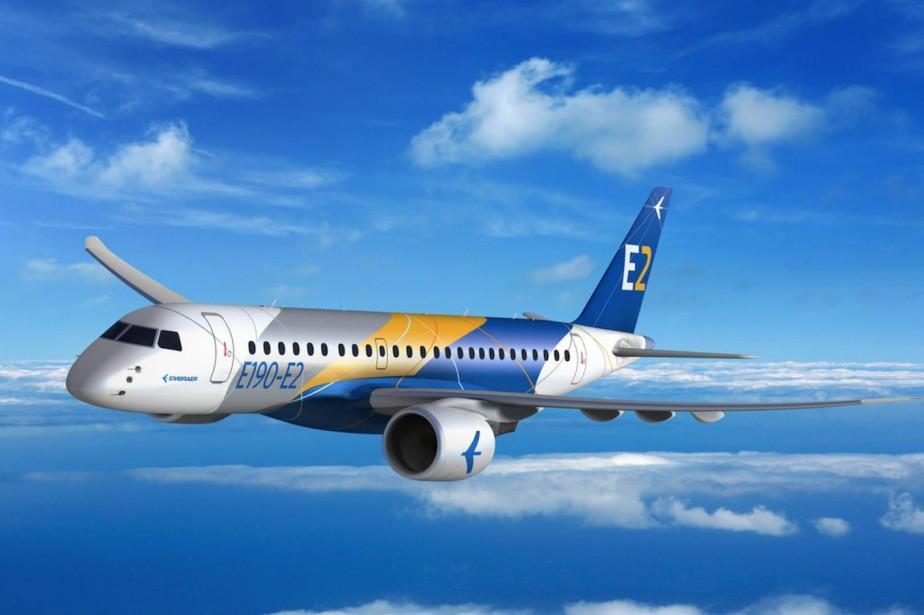 Le E190-E2 de Embraer est un concurrent de... (ARCHIVES AP)