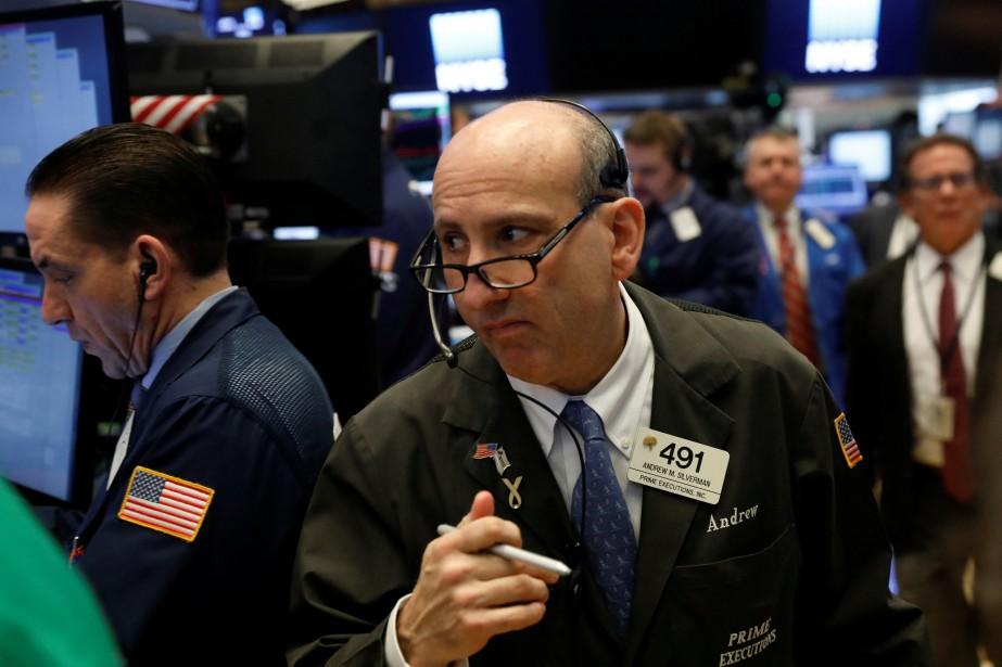 La Bourse de New York a terminé sur une note contrastée... (Photo REUTERS)