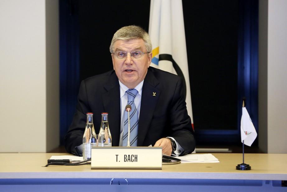 Le président duComité international olympique, Thomas Bach.... (Photo Pierre Albouy, AP)