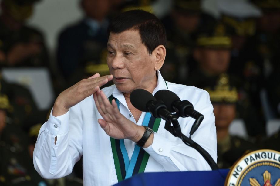 Le président philippin Rodrigo Duterte... (PHOTO TED ALJIBE, AFP)