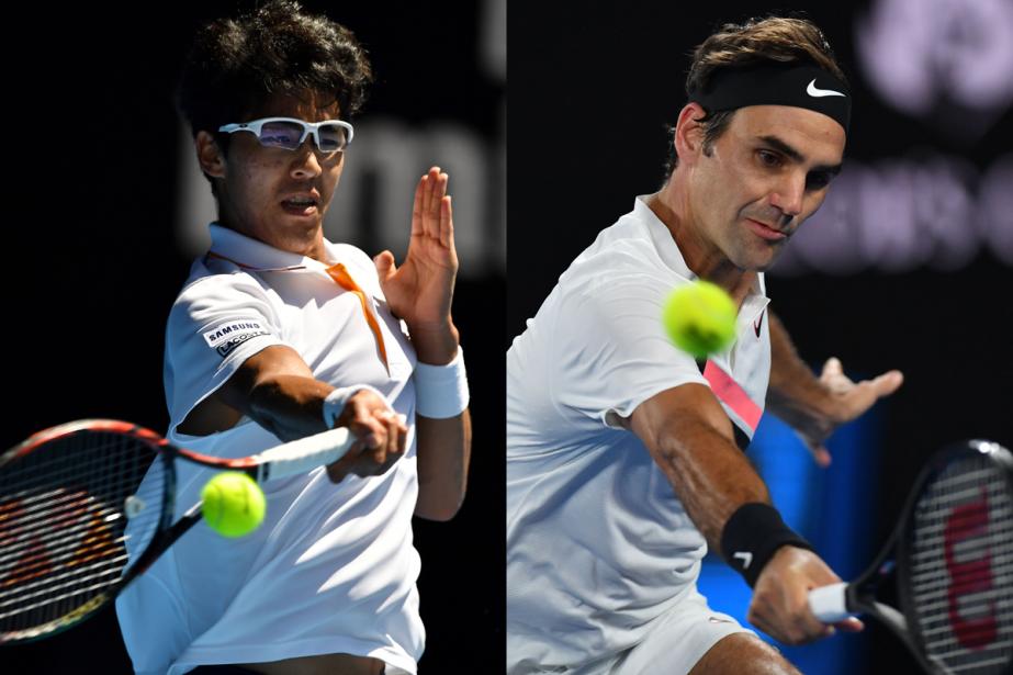 Hyeon Chung affrontera Roger Federer en demi-finale des... (Photos AFP)