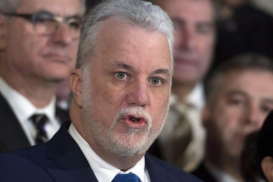 Le premier ministre du Québec, Philippe Couillard.... (Jacques Boissinot, archives PC)