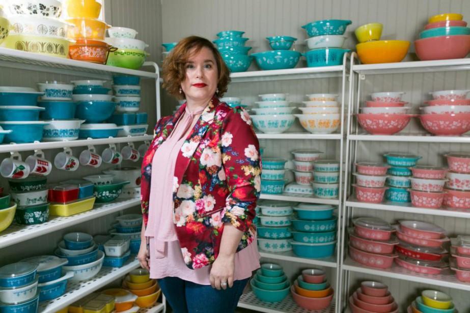 Karine Vincent entrepose sa précieuse collection dans le... (Photo Martin Tremblay, La Presse)