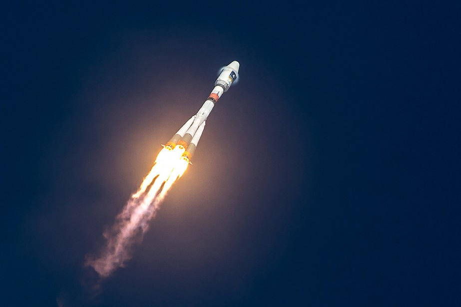 Une fusée Soyouz, lors d'un lancement en 2015.... (jody amiet, archives AFP)